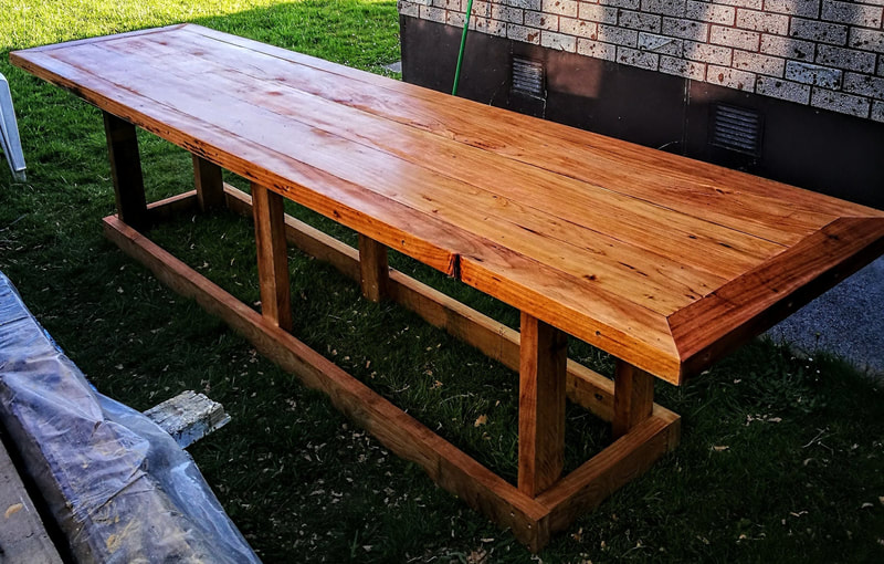 Large American barn style outdoor table