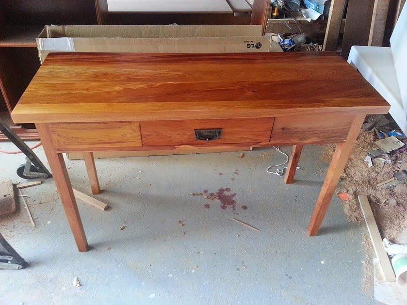 recycled rimu hall table