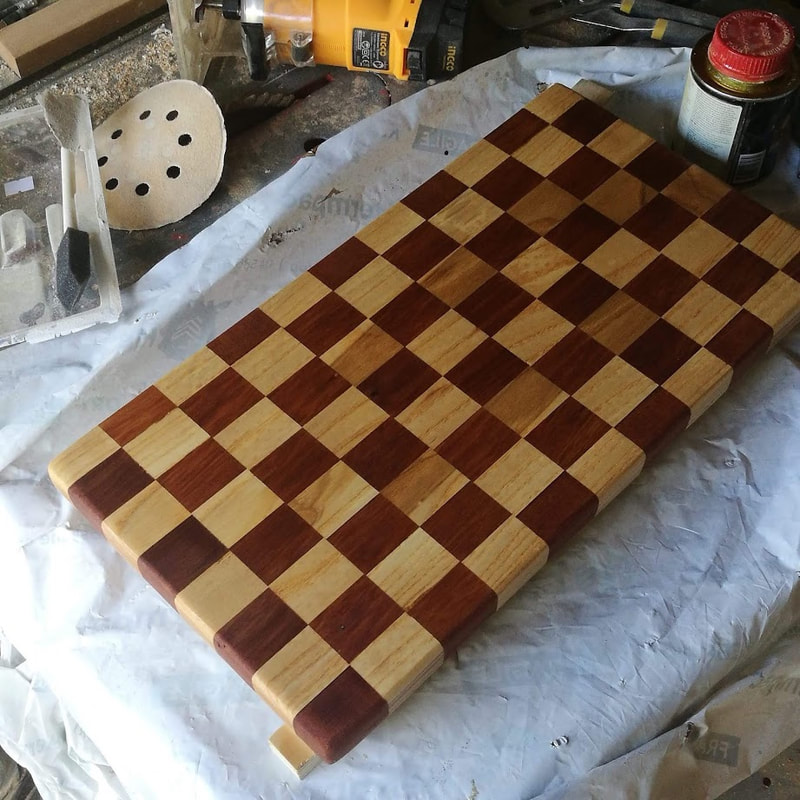 checker cutting board