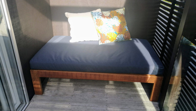 Daybed with outdoor mattress